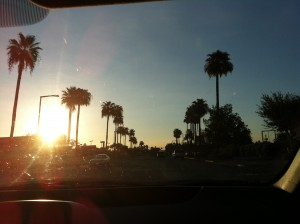 back in Phoenix